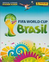 Panini WM 2014 Brasilien kpl. Stickersatz + Leeralbum Softcover