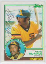Autographed 1983 Topps Gene Richards - Padres