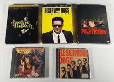 Lot of 3 Dvd 2 Soundtracks - Pulp Fiction Jackie Brown Reservoir Dogs- Tested