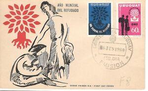 A2273 - URUGUAY 1960 - FDC ANNO DEL RIFUGIATO - VEDI FOTO
