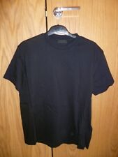 NEW. PRADA REAR LOGO TSHIRT. MEDIUM. BLACK. 36-38 CHEST 48 EU. GENUINE