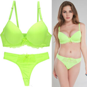 Sexy Women Lace Bra and Panty Sets Push Up Underwear Brassiere Set Lingerie BCDE