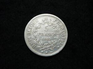 5 Francs Hercule 1849 BB argent.