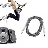 """1/4"""" 6.35mm Jack Plug Male Stereo Audio Cable Lead For Guitar Bass Cord 2m"""