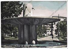 ALESSANDRIA CITTÀ 145 FONTANA - GIARDINI  Cartolina FOTOGRAFICA VIAGGIATA 1957