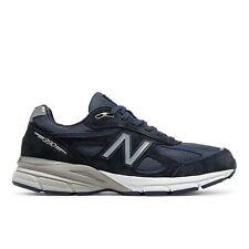 New Balance 990v4 X-широкий (4E), мужские беговые кроссовки темно-синий с серебряными M990-V4