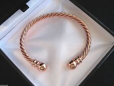 TOP QUALITY PURE COPPER TWIST MAGNETIC BANGLE/BRACELET/ PAIN RELIEF/MENS/LADIES