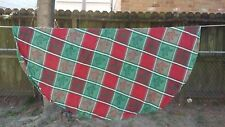 "Red Green White Holly Christmas Plaid Round 62"" Tablecloth Free Shipping"