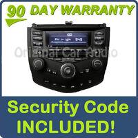 04 05 06 07 HONDA Accord Radio Stereo 6 Disc Changer CD Player 7BK1 Temp Control