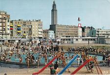 CP Couleur Le Havre la pataugeoire bien animée Eglise St Joseph