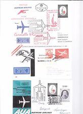 Austria-3 First Flight covers(1960s) involving Scandinavian legs