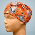 Surgical Scrub Hat Cap (Nurse, Pediatric, Dentist, Chef) Halloween Witches - E5