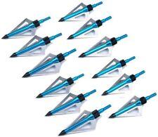 12PK Archery Broadheads 100gr 3 Blade Hunting Arrowheads For Crossbow Arrow Tips