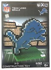 Detroit Lions NFL American Football 3D Logo BRXLZ Brick Construction Set Puzzle