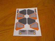 Custom Orange Sticker Sheet for Lego Star Wars  set #75135, 75038, 9494, 7661