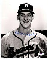 Warren Spahn autographed signed 8x10 photo MLB Boston / Milwaukee Braves PSA COA