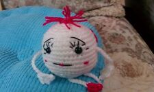 Two-faced Emoji for your desk or anywhere!  Handcrafted crocheted- meet Elsie
