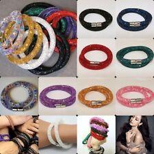 Modeschmuck-Armbänder im Magnetarmband-Stil aus Metall-Legierung mit Kristall