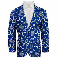 Indianapolis Colts NFL FoCo Men's Repeat Logo Ugly Business Jacket Size 44-MED