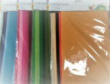 Craft Felt Sheets - 4 Shades - 5  x A4 sheets per pack - 30 x 20cm  *LAST STOCK*