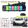 "12"" Android 8.1 Car DVR Dual Lens Front Rear View Mirror Dash Camera GPS 4G Wifi"