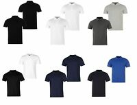 2 Pack Mens Polo Shirt T Shirt Golf Tennis Pique Top M L XL XXL 3XL 4XL 2 PACK