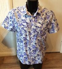 "Lee Cooper blue mix shirt size L approx 40"" chest"