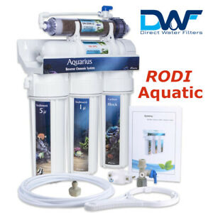 Aquatic 5 Stage Reverse Osmosis System Unit RODI with DI Resin 75-100-200 GPD