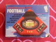 VINTAGE 1987 VTECH ELECTRONIC TALKING PLAY-BY-PLAY FOOTBALL w/ BOX TESTED WORKS