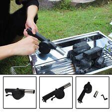Outdoor Grill Crank Driving Fire Starter Manually Fan BBQ Air Blower