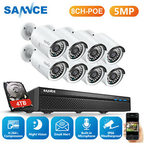 SANNCE 5MP H.264+5MP NVR 1080p/5MP Outdoor CCTV Camera Home Security PoE System