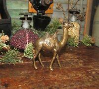 Original Antique Vtg 1920 A C Williams Small Camel Cast Iron Still Penny Bank