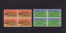 HONG KONG 1977 SNAKE LUNAR NEW YEAR BLOCK 4 SETS  – MINT Unhinged (L074)