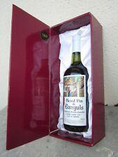 bouteille de vin de banyuls 1969 avec son coffret