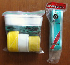 WELLINGTON RE-WEB KIT LOT ~ White, Yellow, Green & Teal ~ MADE IN USA