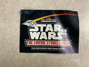 Star Wars The Empire Strikes Back 1982 *MANUAL ONLY* Atari 2600 VCS LUCASFILM