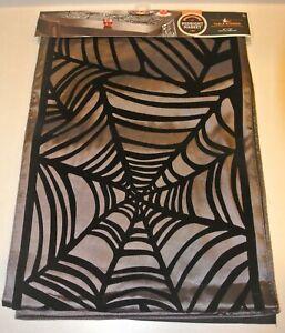 New Halloween Black Spider Web Table Runner 13 x72 NIP Kohl's