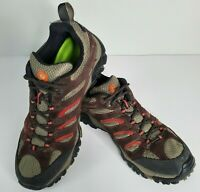 MERRELL MOAB 2 Size 9.5 Mens Brown Suede Waterproof Hiking Shoes Sneakers Boots