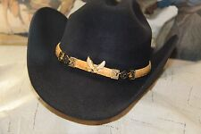 Montecarlo 10X Beaver Taco style western hat NWT made in USA  (size 55, 6 7/8)