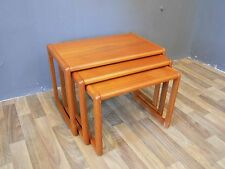 Teak Satztische nesting tables danish Design Entwurf Denmark 70er 70s vintage