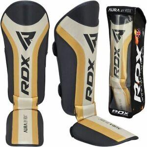 RDX T17 AURA MMA & Kickboxing Shin Instep Padded Protection Guard Small