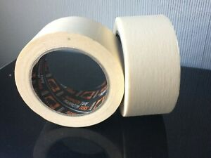 2 Rolls MAMMOTH General Purpose Masking Tape Painting Decorating Home 50mm x 50m