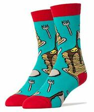 9c90eac7c9ec Socks Men's Crew Novelty Socks, Breakfast Time, Teal/Red (