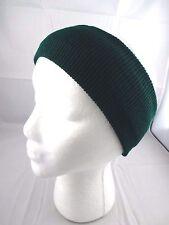 Dark green headband ear warmer band knit acrylic