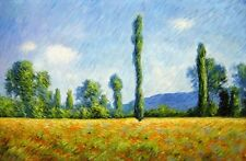 "Claude Monet  Repro  Landscape Oil Painting - Poppy-Field  Size:36""x24"""