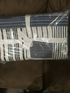 NEW Pottery Barn Finch Blue Patchwork King - Cal King Quilt
