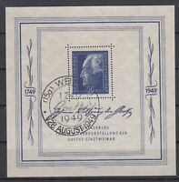 DC7983/ GERMANY SOVIET ZONE – GOETHE - BLOCK MI # 6 USED SIGNED – CV 360 $