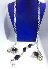 David Yurman Lariat Black Onyx 18K Yellow Gold Sterling Silver Necklace