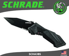 Schrade M.A.G.I.C. Assisted Opening Folding Knife Serrated Tanto Blade SCHA3BS