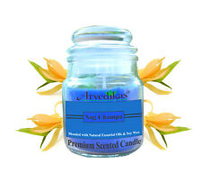 Arvedikas Natural Nagchampa Soy Wax Glass Jar Candle Blended with Essential Oils